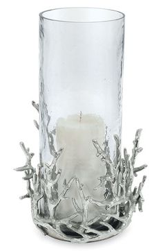 Michael Aram 'Coral' Hurricane Vase $189 His collection has a variety of Coastal Accessories.