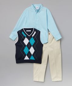 Another great find on #zulily! IZOD Navy Argyle Vest Set - Infant, Toddler & Boys by IZOD #zulilyfinds