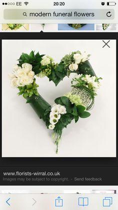 Képtalálat a következőre: Open heart funeral arrangement
