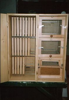 Eastern European Bee Hives with rear door open
