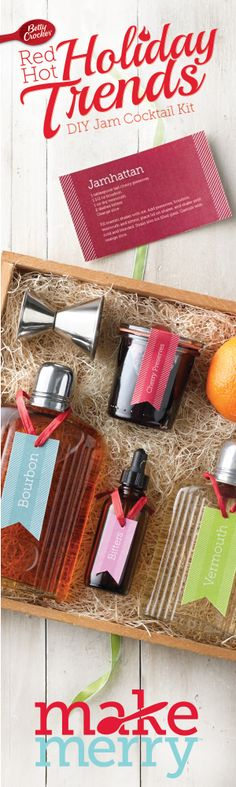 Red Hot Holiday Trend: DIY Jam Cocktail Kit #MakeMerry