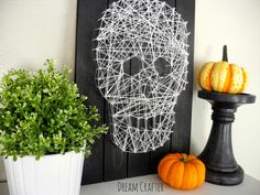 Skull String Art - The Wood Connection Blog