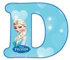Letras de Frozen Abecedario para descargar gratis | -Tu sitio de Frozen - Frozen Banner, Frozen Cake, Elsa Frozen, Bolo Elsa, Princesas Disney, Lettering Design, Decoration, Disney Characters, Fictional Characters