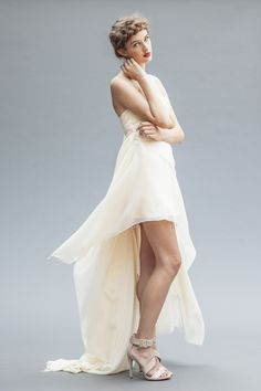 The exquisite Athena, a signature Elika In Love.  Shop the look: www.elikainlove.com  This luxurious silk chiffon wedding gown was created for an elegant bride looking for a captivating gown that is fresh, modern, and romantic. Chiffon Wedding Gowns, Elegant Bride, Bride Look, Silk Chiffon, Romantic, Luxury, Modern, Shots, Fresh