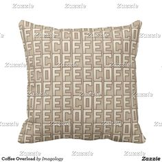 Rest your head on one of Zazzle's Coffee decorative & custom throw pillows. Decorative Throw Pillows, Cushions, Coffee, Throw Pillows, Kaffee, Accent Pillows, Cushion, Pillows, Decorative Pillows