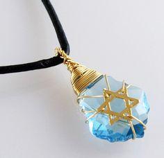 Aquamarine star of david