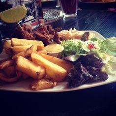 Nommy lunch in the Kazbar, Waterford city.