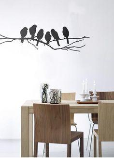 Decoración salón con vinilos decorativos. #decoración #salon #vinilos http://imaginashop.com/es/7-vinilos-decorativos