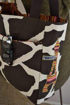 Giraffe in Paris Kandy tote by pursemafia on Etsy, $60