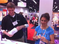 Playing with Amazing Mold Putty at Alumilite Corp. Booth #2252 at Winter 2012 CHA in Anaheim, CA.