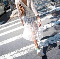 what-do-i-wear: Dress: Shopbop, Kate Moss Bag: Foley & Corinna or Elizabeth & James Shoes: Addidas Stan Smith. Image: wheredidugetthat.com