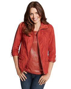 Red jacket from Chico's  #chicos