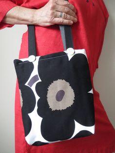 Marimekko shoulder bag by ArcticLightCrafts on Etsy
