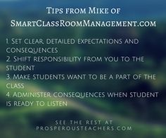 Classroom Management Tips from SmartClassroomManagement.com