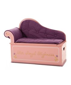Princess Storage Fainting Couch - would make a great toy chest!