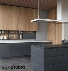 Modern kitchen: kitchen of mikolajskastudio, modern - küche - Design Luxury Kitchen Design, Best Kitchen Designs, Luxury Kitchens, Interior Design Kitchen, Cool Kitchens, Home Decor Kitchen, Kitchen Furniture, Furniture Stores, Furniture Plans