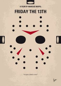 minimal minimalism minimalist movie poster chungkong film artwork friday the 13th jason voorhees