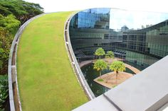 PHOTOS: Incredible Swirling Green Roof Tops Nanyang Technical University's School of Design | Inhabitat - Sustainable Design Innovation, Eco Architecture, Green Building