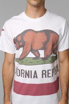 Graphic T-Shirts + Sweatshirts for Men California Flag, Champion Sweatshirt, Urban Outfitters, Fitness Models, Man Shop, Mens Fashion, Tees, Sweatshirts, Mens Tops