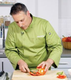 Chef James Smith of the Clean Eating Academy shows you the coolest way ever to slice a pepper.