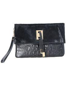 Black Crocodile Leather Clutch Bag