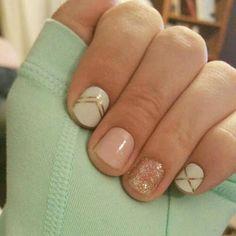 nice Gatsby and Daydream wraps, Party Dress TruShine Gel Enamel - beccasjamwraps. Get Nails, Fancy Nails, How To Do Nails, Pretty Nails, Hair And Nails, Look Gatsby, Gel Nagel Design, Jamberry Nail Wraps, Nagel Gel