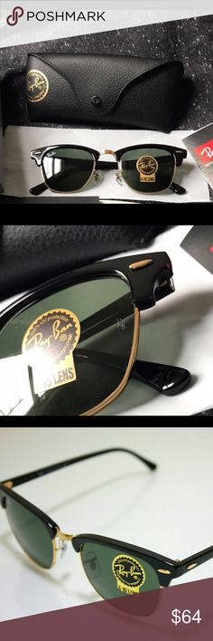 21cbc4cd310 RB clubmaster sunglasses RB clubmaster sunglasses Dark green lenses 51mm  100% authentic Fast shipping and