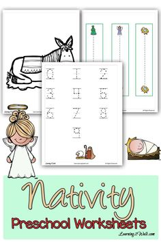 Looking for a fun Nativity Christmas themed activity for your kids? Or perhaps you just want to have some Christmas educational ideas handy? Grab this pack Free Printable Math Worksheets, Preschool Printables, Preschool Worksheets, Math Activities, Reading Worksheets, Free Printables, Preschool Letters, Free Preschool, Free Math