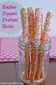 Easter Dipped Pretzel Rods