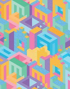 Kate Moross - Isometric Wallpaper 2014