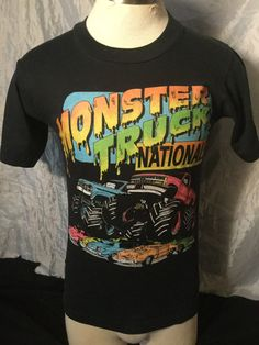 391d120426e Vintage 1980 s Monster Truck Nationals 50 50 Made in USA Great Color