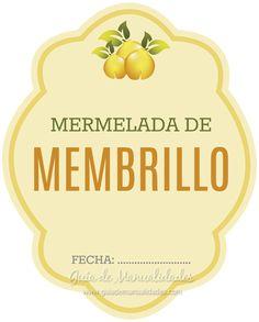 Mermelada y jalea casera de membrillos con imprimibles - Guía de MANUALIDADES