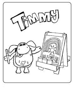 раскраска Тимми для детей