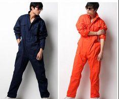 Men/'s conjoined jumpsuit pants Siamese pants Coveralls Boiler suit short sleeves