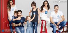 Campanha Contra Câncer Mama 2013. Os atores Débora Falabella e Murilo Benício estrelaram a campanha com os filhos e com os atores Reynaldo Gianecchini, Tatá Werneck e Fernanda Machado.