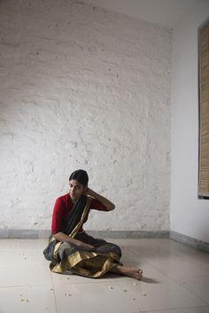 rasiya saree worn with rukmani petticoat