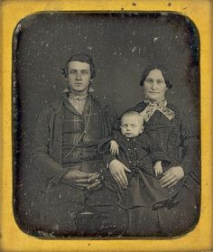 daguerreotype, 1850's. Love the man's chain w cross-watch chain?