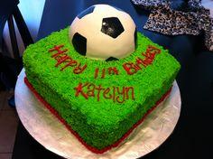 Soccer cake 6th Birthday Cakes, Birthday Cakes For Teens, Soccer Cake, Soccer Party, Cupcake Cakes, Cupcakes, Teen Boys, Cake Creations, Amazing Cakes