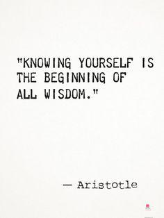 Aristotle quote wisdom Art Print by epic paper