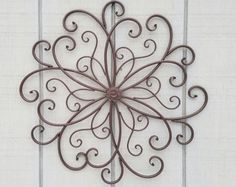 Large Metal Wall Art / Large Wrought Iron Wall By AshlynColelee