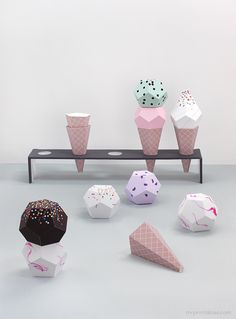 Paper Ice Cream Templates - Mr Printable