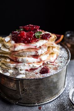 ... Coconut Honey Crepes with Whipped Mascarpone + Blood Orange Compote