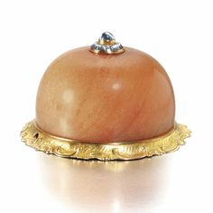 A Fabergé jewelled hardstone bellpush with gold mount, workmaster Michael Perchin, St Petersburg, circa 1890