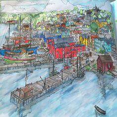 My Interpretation Of Lunenburg Nova Scotia Canada From Fantastic Cities Steve McDonald