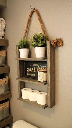 Hung by Rope Shelf