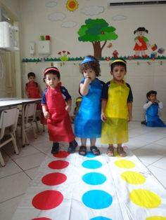 projeto educação infantil cores primarias - Pesquisa Google