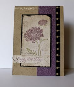 Field Flowers in Purple. Love the use of French Foliage to create the background.