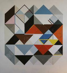 Jeff Depner - Reconfigured Grid Painting No. 3