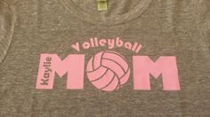 Volleyball Mom Shirt in EcoGray or Sparkle Black  by SidelineDivas, $25.00