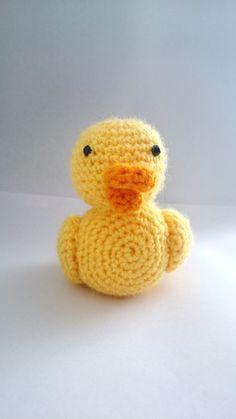 Duck  crochet pattern Nursery Rhyme miniature by KrigsCrochet on Etsy